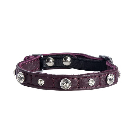Comete Leather Cat Collar – Prune
