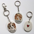 Personalised Portrait Keyring or Bag Charm 2