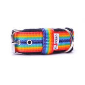 El Perro - 4cm width Fleece Comfort Dog Collar - Rainbow