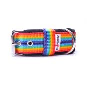 El Perro - 4cm width Fleece Comfort Dog Collar - Rainbow