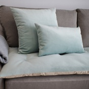 The Lounging Hound - Velvet Scatter Cushion - Seaspray