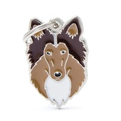 My Family - Rough Collie Engraved ID Tag