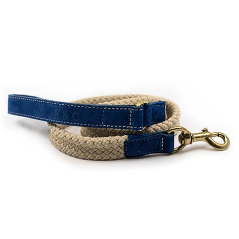 Rope lead (flat) - Blue