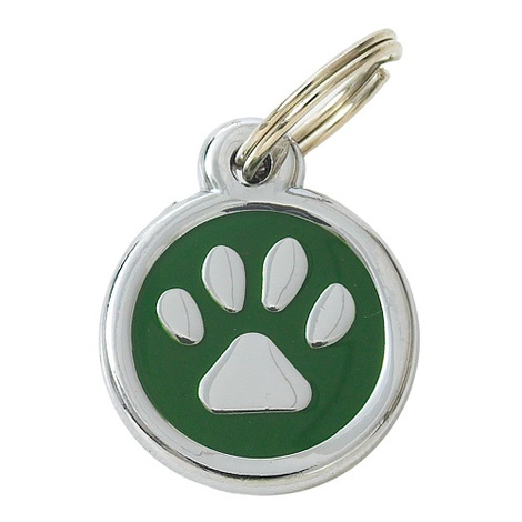 My Sweetie Green Paw Pet ID Tag