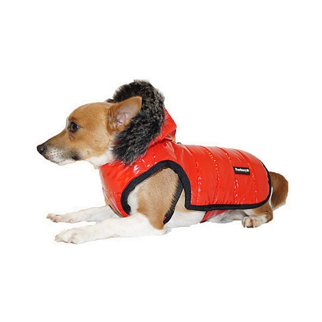 Brighton Bubble Hoodie Dog Coat - Red 6
