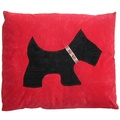 Scottie Dog Doza - Black on Red