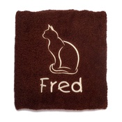 My Posh Paws - Personalised Cat Towel –  Chocolate