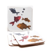 New House Textiles - Forgetful Fish Coasters