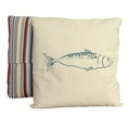 Mackerel Teal Stripe Cushion