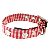 Creature Clothes - Gingham Collar with Daisies