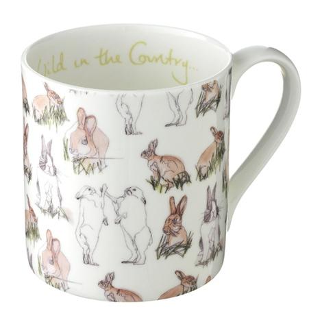 Rabbit Print Mug