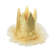 House of Paws - Party Gold Crown Hat Hair Clip