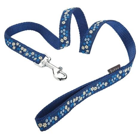 Flower Dog Lead - Blue