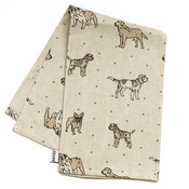 Mutts & Hounds - Dogs Linen Tea Towel - Natural