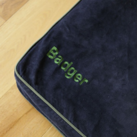 Memory Foam Corduroy Dog Bed – Olive 4