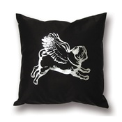 Pugs Might Fly - Single Flying Pug Cushion Cover