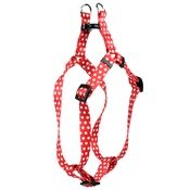 Yellow Dog - Red Polka-Dot Step-In Dog Harness