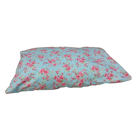 Blue Vintage Floral Cushion Dog Bed 2