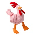 Pink Funky Chicken Squeaky Dog Toy