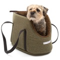 Forest Green Tweed Dog Carrier