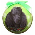 Black Poodle Christmas Bauble