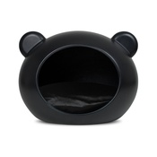 GuisaPet - Medium Black Dog Cave with Black Cushion