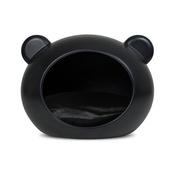 GuisaPet - Medium Black Dog Cave with Black Cushion