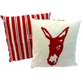 Donkey Butcher Stripe Red Cushion
