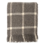 Mutts & Hounds - Slate Windowpane Wool Blanket
