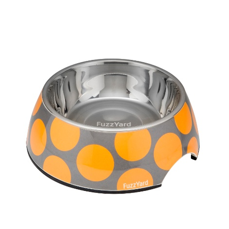 Bubblelicious Bowl - Orange and Grey