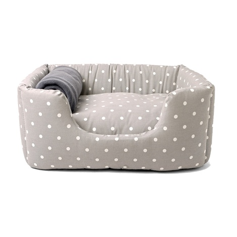 Deeply Dishy Luxury Dog Bed - Dotty Dove Grey 3