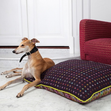 Luxury Pure Wool Dog Bed - Mulberry Multispot