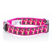 Pet Pooch Boutique - Pink Heritage Stag Collar