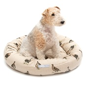 Mutts & Hounds - Grouse Linen Donut Bed