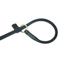 Rolled Leather Slip Dog Lead – Black 2