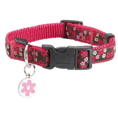 Flower Dog Collar - Pink
