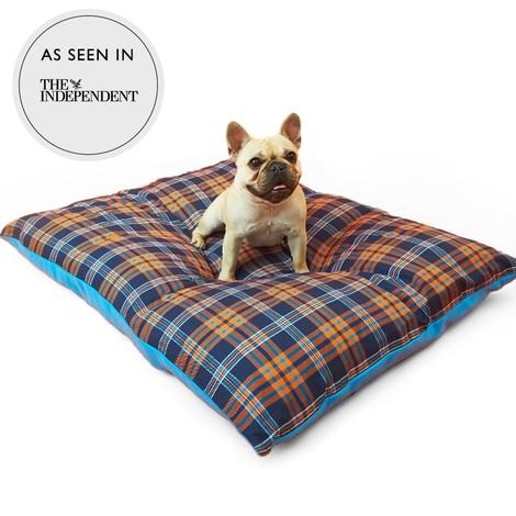 Henry Holland Blue Tartan Dog Bed 5