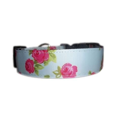 Vintage English Rose Dog Collar & Lead Set 2