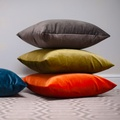 Velvet Scatter Cushion - Mole