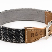 Ralph & Co - Tweed & Leather Dog Collar - Ascot
