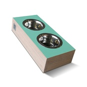 Binq Design - bite&slurp Multi Pet Feeder - Wood & Green