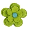 Bloom Cat Collar Flower Accessory - Lime & Aqua 2