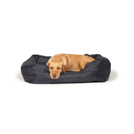 Quilted Snuggle Dog Bed – Navy 2