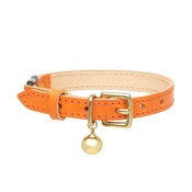 Cheshire & Wain - Leather Orange Cat Collar