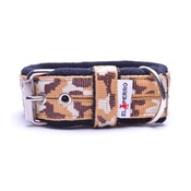 El Perro - 4cm width Fleece Comfort Dog Collar - Safari Camo
