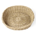 Greywash Oval Rattan Basket  3