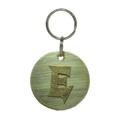 Alphabet Dog ID Tag - Textured brass on plain brass