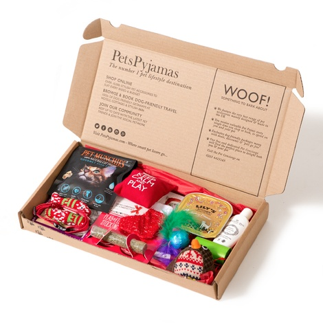 Personalised Christmas Cat Treat Box