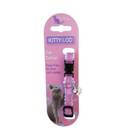 Glitter Cat Collar - Pink