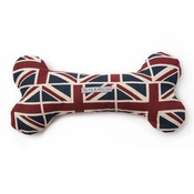 Mutts & Hounds - Union Jack Linen Squeaky Bone Toy